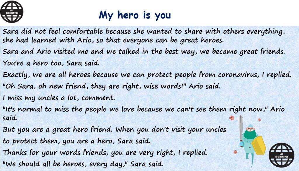 Si estás en el nivel A2 o A2+, imagina que Sara y Ario te visitan. ¿Cómo sería ese diálogo? Escribe un diálogo corto que podría ser incluido en la historia. Luego, graba tu voz contando la parte que creaste.