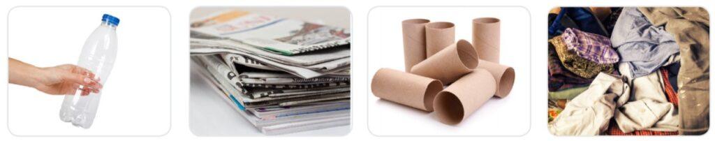 Create a list of recyclable materials and suggest things you can make from them. Sabemos que los residuos sólidos son en gran parte causantes de la contaminación del planeta y que existen formas creativas de reciclar los materiales que tenemos en casa, en vez de botarlos a la basura. Elabora una lista de los recursos que tengas en casa y piensa en los objetos útiles que puedes crear a partir de estos. To do this, follow the steps: Activity 2 Do it yourself – D.I.Y. Step 1: Look around your house and Identify materials you can recycle. For example: Step 2: Classify the materials in three groups
