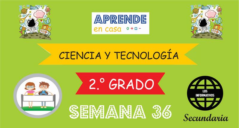 SEMANA 36 – Ciencia y Tecnología (2º SECUNDARIA)