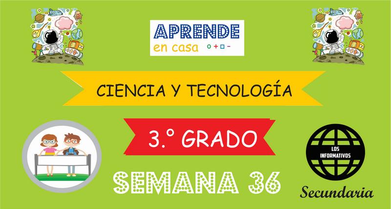 SEMANA 36 – Ciencia y Tecnología (3º SECUNDARIA)