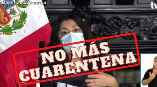 """Violeta Bermúdez: """"A partir del 1 de marzo ya no habrá cuarentena"""""""