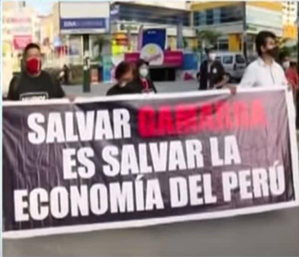 Gamarra: Comerciantes marchan y piden reapertura inmediata del centro comercial