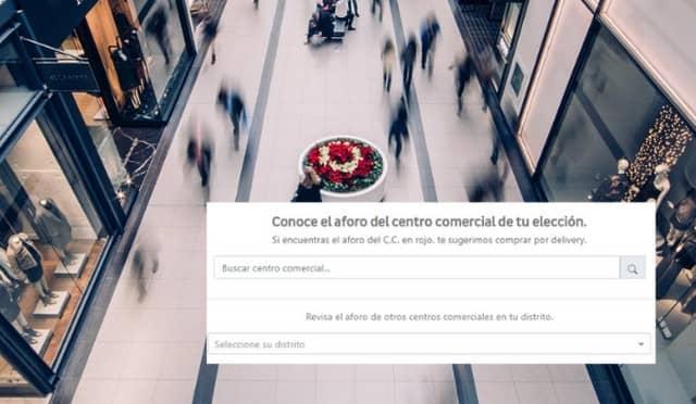 Página web para verificar el aforo en centros comerciales