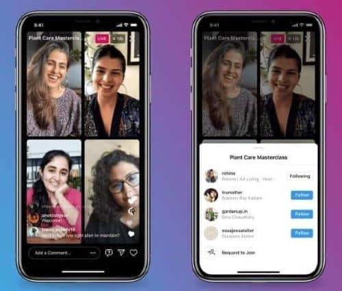 Instagram lanza Live Rooms: hasta cuatro personas a la vez en vivo