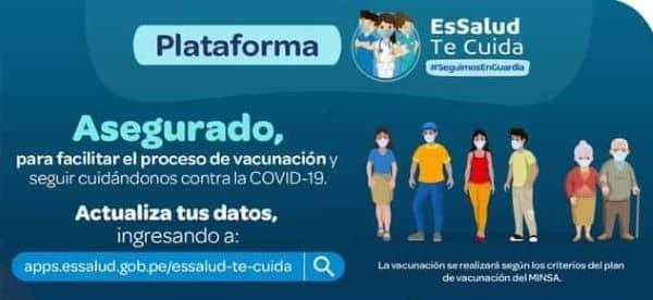 EsSalud:  Plataforma de actualización de datos para vacunación covid-19