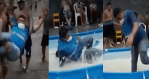 Arrojan a piscina y roban a fiscalizadores que inspeccionan calles de Lima