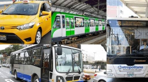 Nuevos horarios del transporte público, metropolitano, taxis, metro y corredores Complementarios