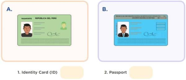 Activity 1: My personal information LET'S OBSERVE! Match