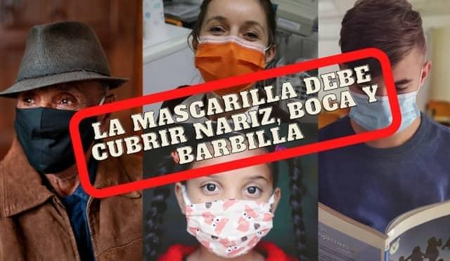 """Gobierno lanza campaña """"Ponte bien la mascarilla"""""""
