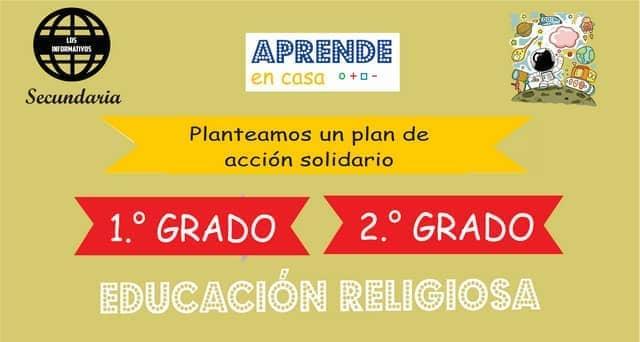 ACTIVIDAD 3 – Proponemos nuestro plan de acción con iniciativas solidarias en favor del bien común – 2° de SECUNDARIA