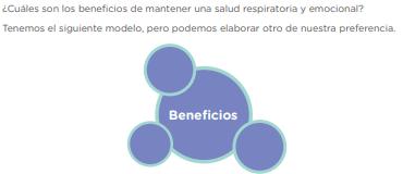 ¿Cuáles son los beneficios de mantener una salud respiratoria y emocional? Tenemos el siguiente modelo, pero podemos elaborar otro de nuestra preferencia.