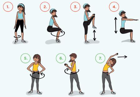 Practicamos una rutina de flexibilidad Tomando en cuenta las actividades realizadas, creamos una rutina de flexibilidad de acuerdo con nuestras posibilidades: La rutina debe tener de 6 a 8 ejercicios para trabajar las extremidades superiores, el tronco y las extremidades inferiores. Podemos utilizar los movimientos que se muestran en las imágenes u otros que conocemos. Para construir la rutina, primero, seleccionamos y registramos los ejercicios para cada zona corporal, luego, decidimos en qué orden vamos a trabajar las partes de nuestro cuerpo. Después, practicamos hasta aprenderla. A continuación, compartimos la rutina para practicarla con nuestra familia.