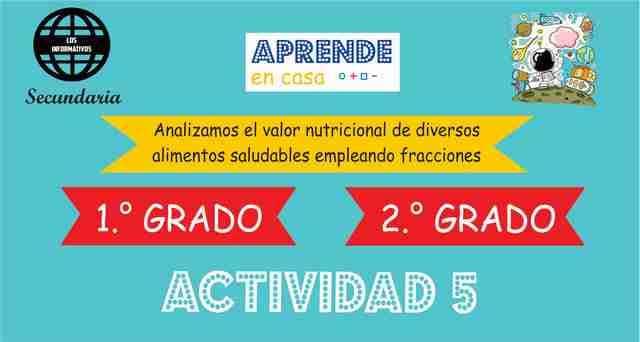 Analizamos el valor nutricional de diversos alimentos saludables empleando fracciones