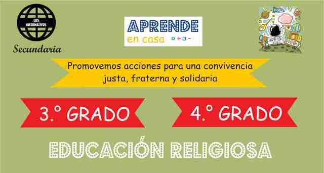 ACTIVIDAD 3 – Promovemos un actuar en coherencia con nuestro testimonio de vida – 4° de SECUNDARIA