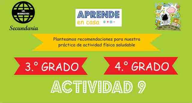 ACTIVIDAD 9 – Planteamos recomendaciones para nuestra práctica de actividad física saludable – 3° de SECUNDARIA